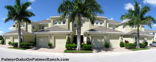 Palmer Oaks also has coach home residences - each with its own garage.